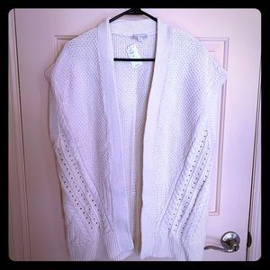 Maternity Cable Knit Short Sleeved Cardigan
